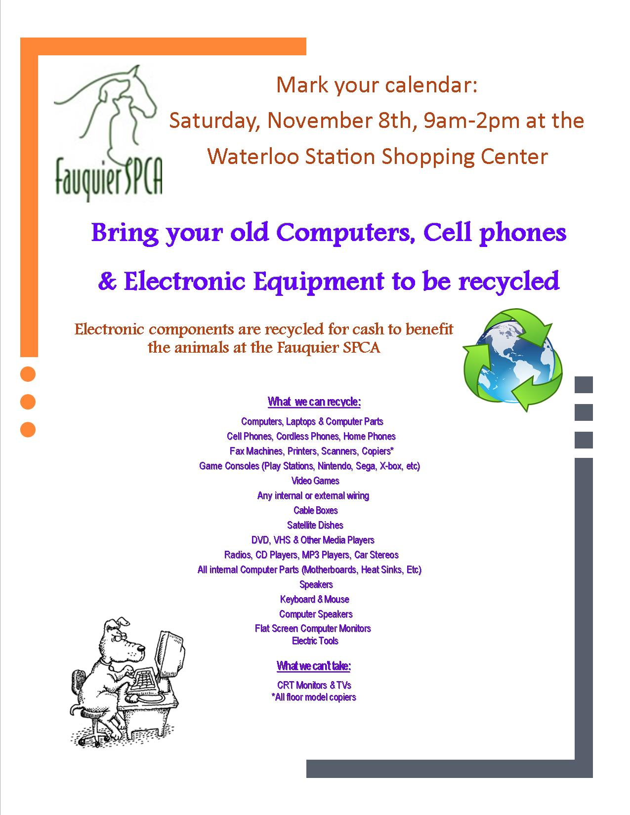 Recycle Event 11-8-2014 – Fauquier SPCA
